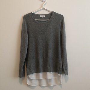 Calvin Klein Mixed Media Crew Neck Sweater Size M